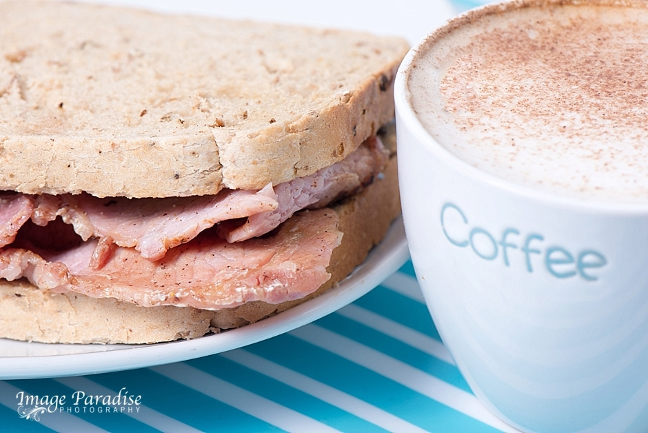 Coffee & Bacon sandwich at Peckish Catering Bristol