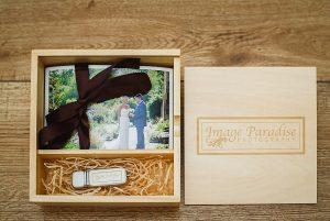 Wooden USB print box