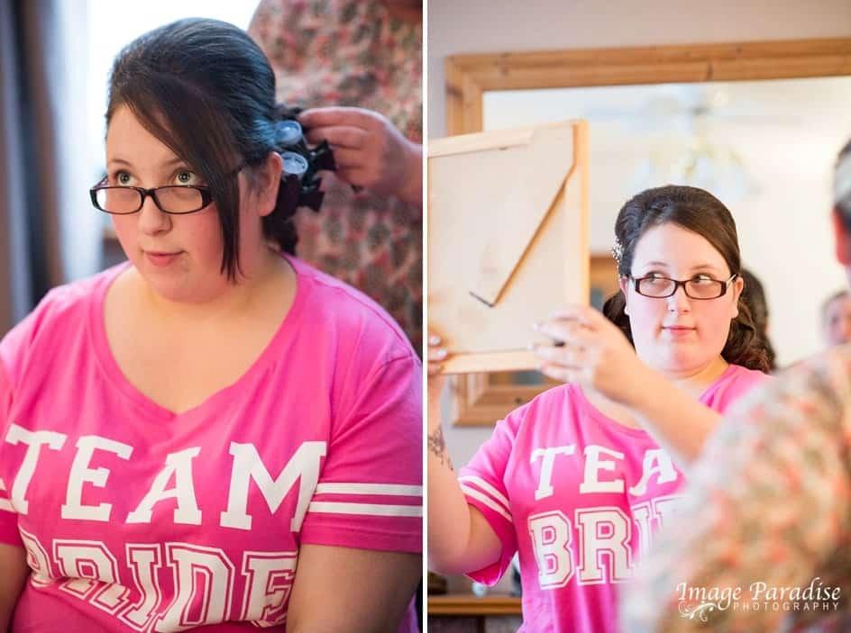 Team Bride getting ready Bristol