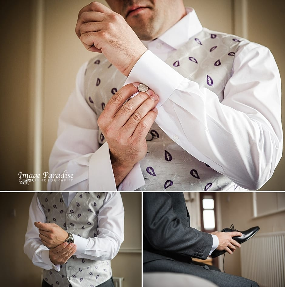 Cumberwell park wedding - groom prep