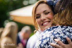 Cumberwell Park wedding hugs