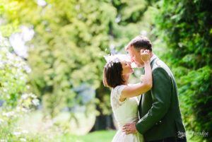Bride & groom in the grounds of Chavenage House wedding photographer Bristol