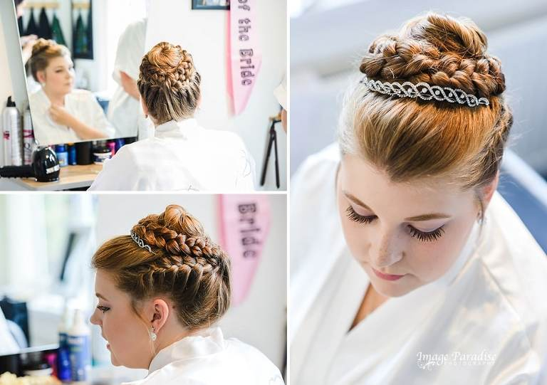 Bridal hair for a wedding at Mercure Bristol