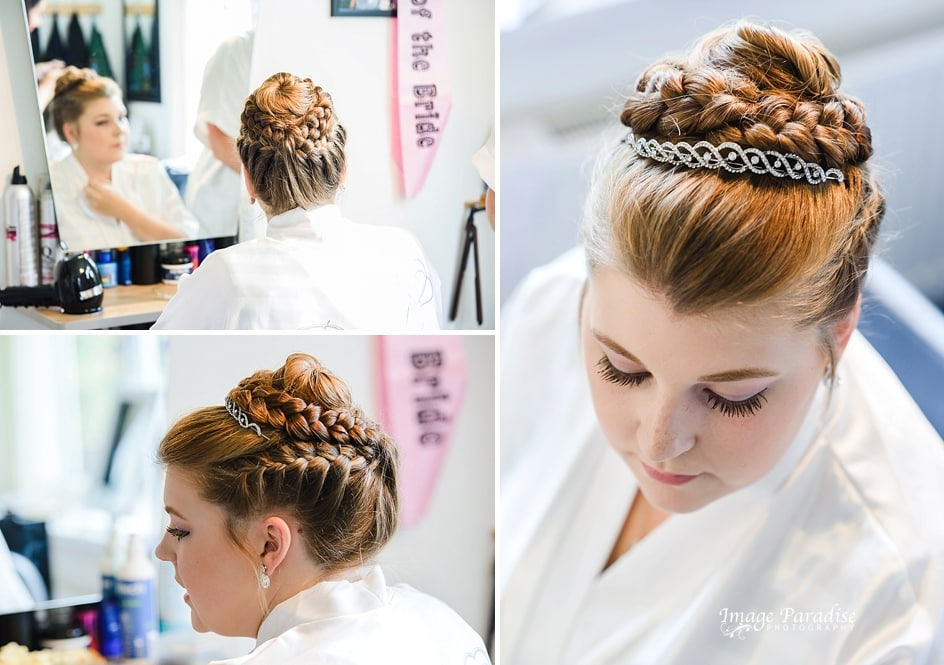 Bridal hair for a wedding at Mercure Bristol
