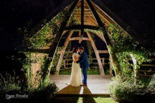 Night portrait Hyde barn wedding