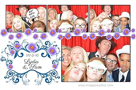 group photo booth shot