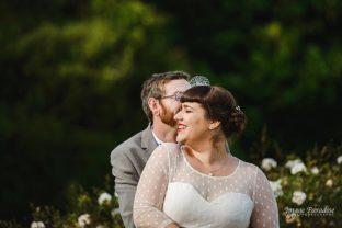 Tewkesbury Abbey wedding Bride & Groom