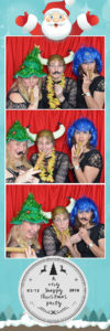 xmas party photo booth fancy dress strip print