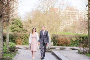 Bride & groom portraits in Castle Park Bristol