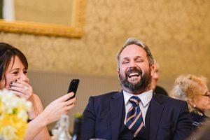 laugher at Bristol zoo gardens wedding