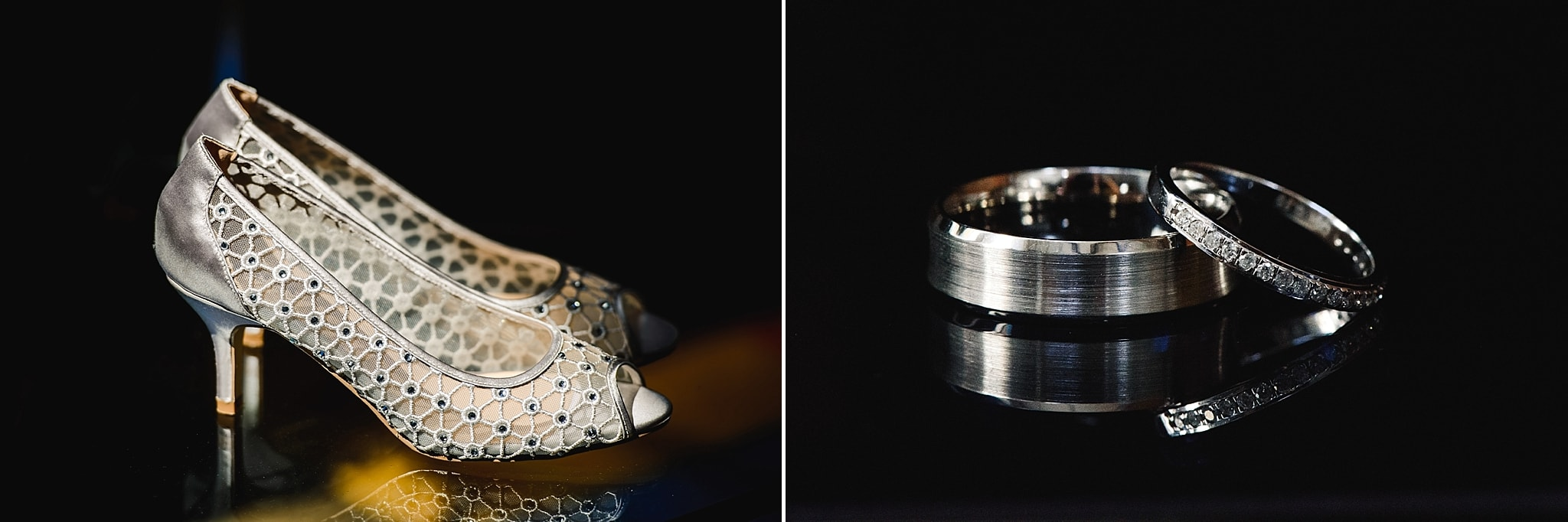 The rings and bridal shoes