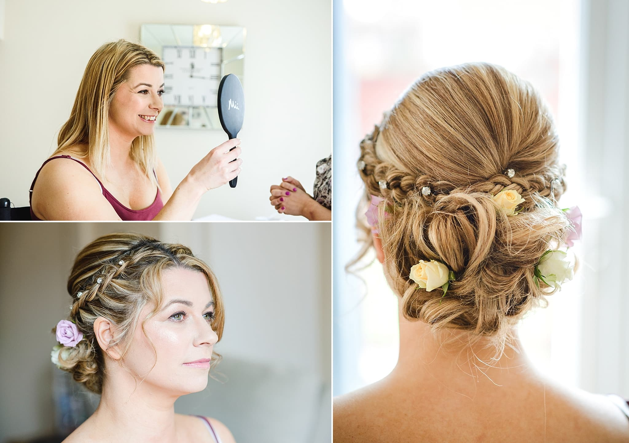 Bridal hair and makeup for a Leigh Park hotel wedding