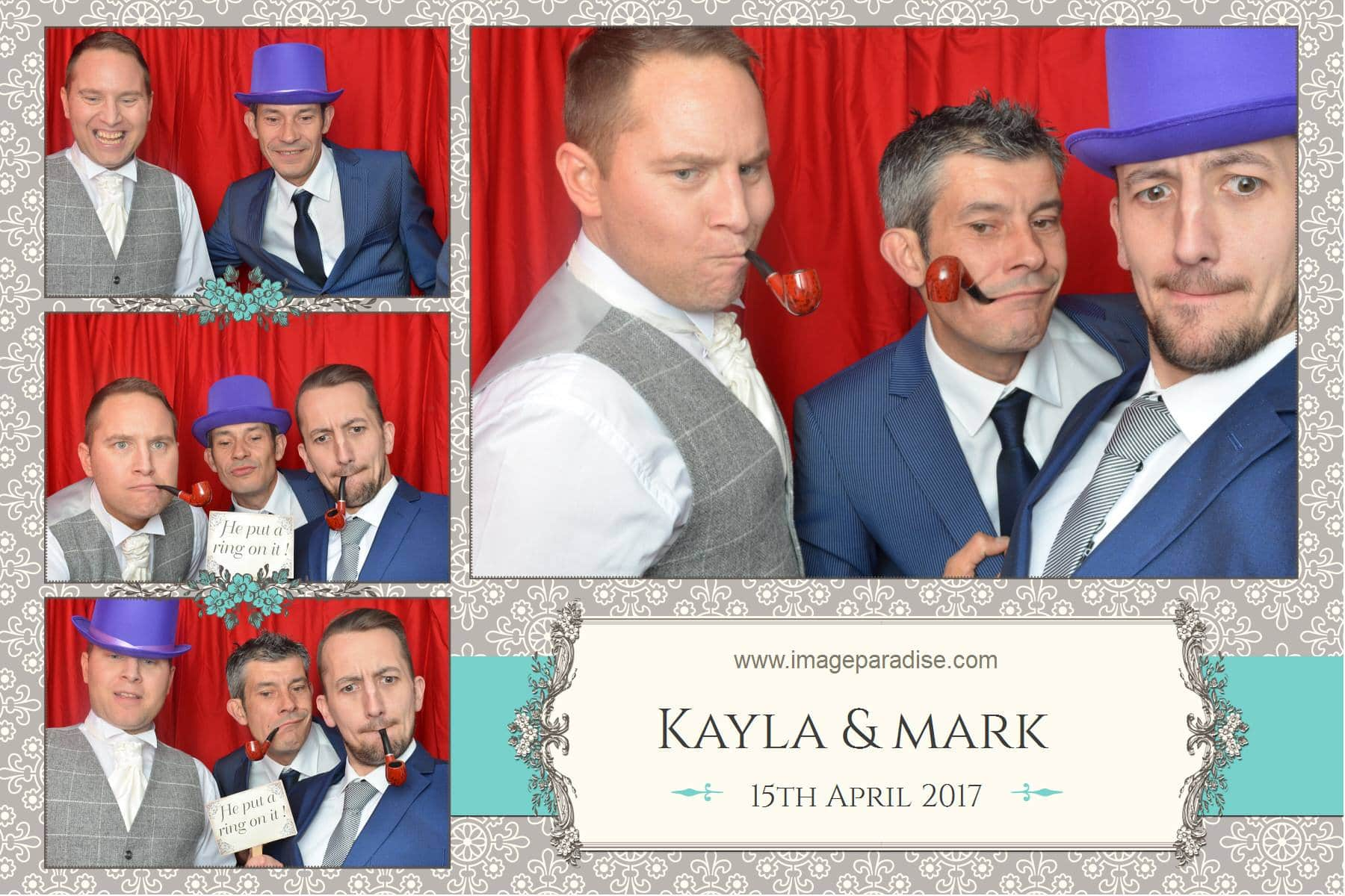 boys being boys in the photo booth