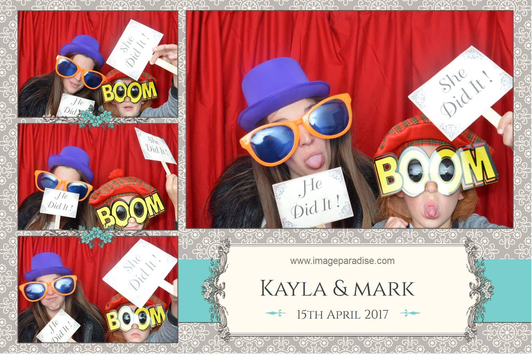 Hats and silly glasses in the photo booth Bradford on Avon