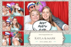 red curtain Wedding photo booth