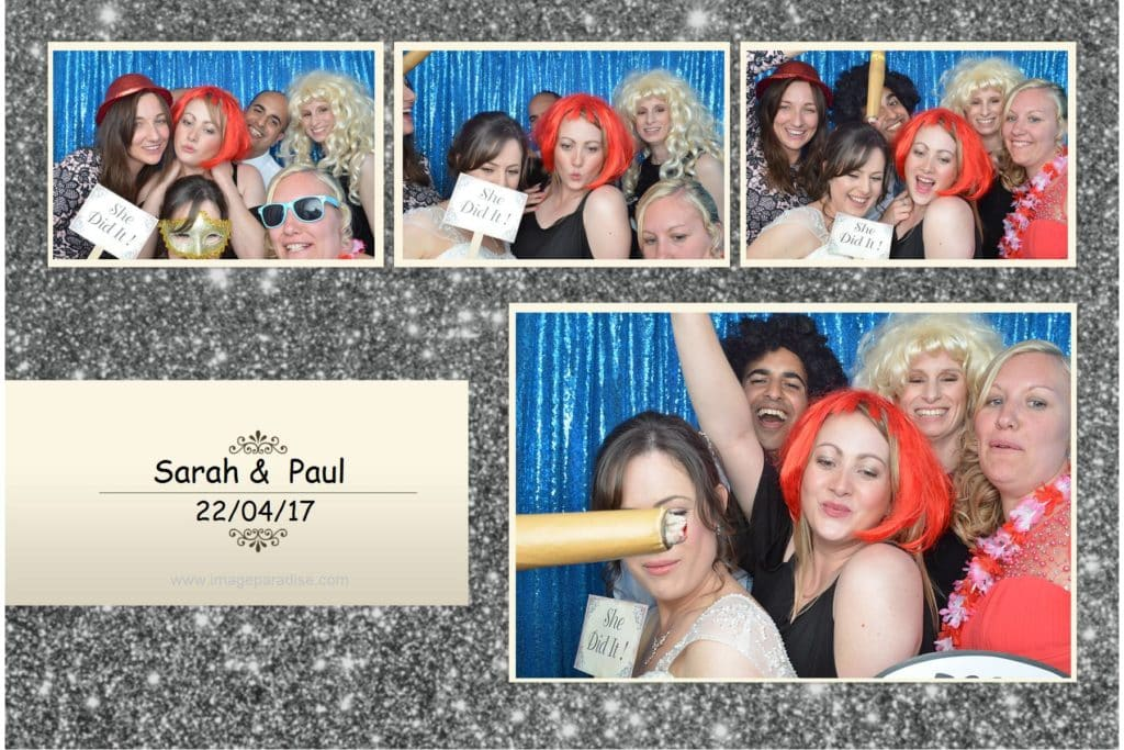 People having fun in the photo booth