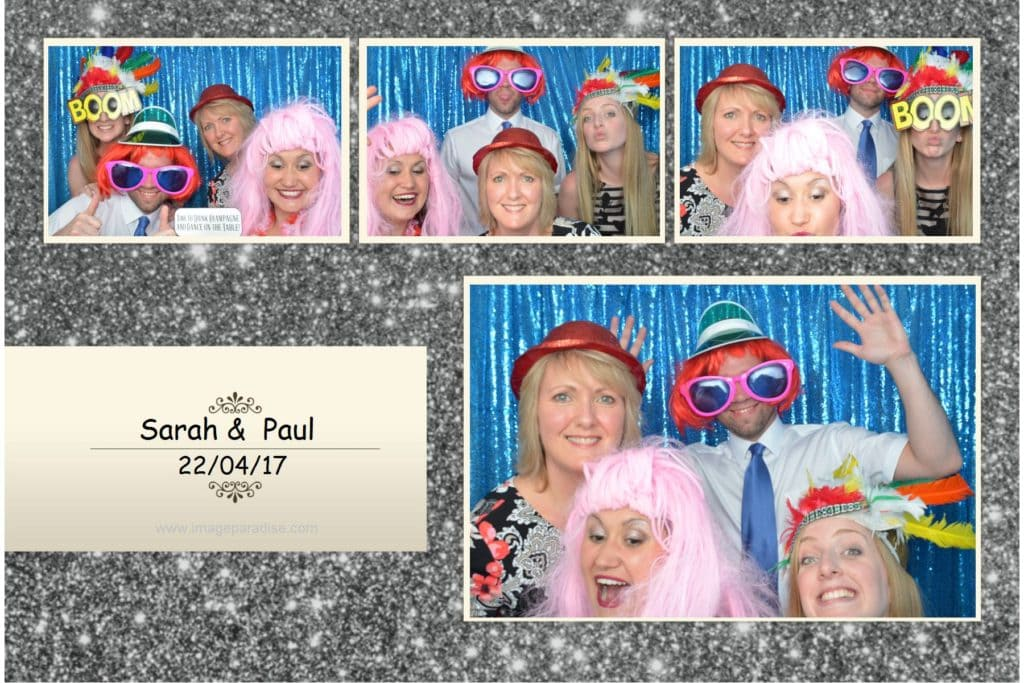 Photo booth print from the Hare and Hounds wedding