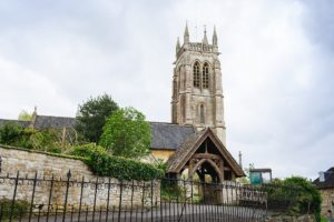 A photo of St Swithins church in Bathford